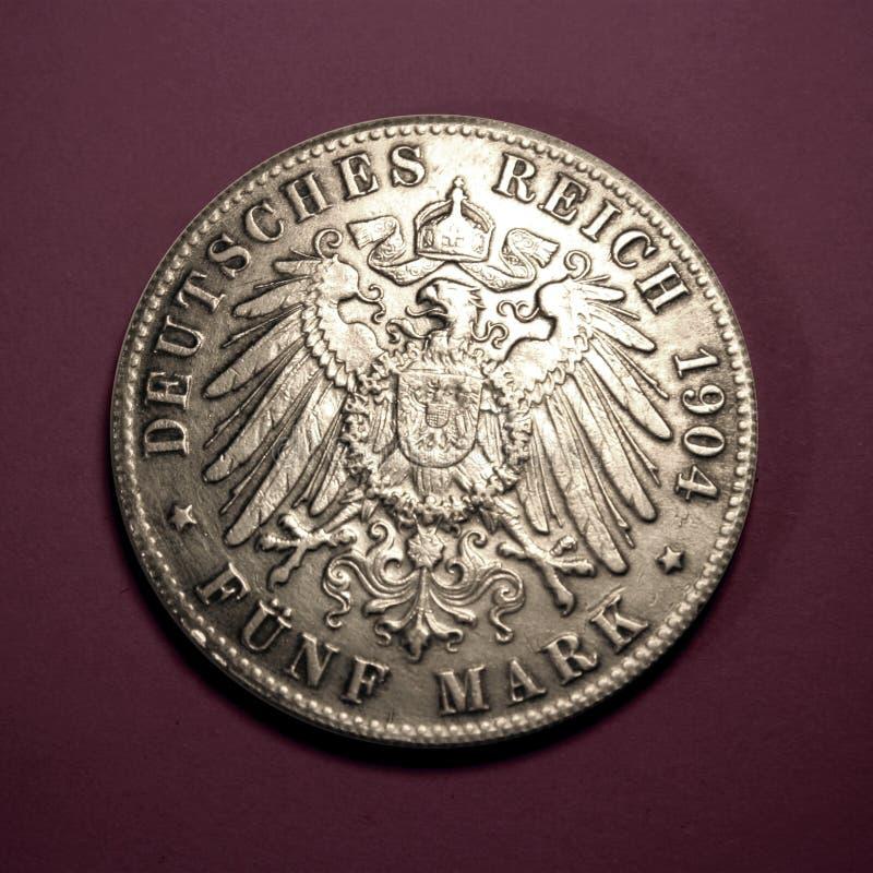Download Mark cinq photo stock. Image du reich, coins, côté, coin - 60432
