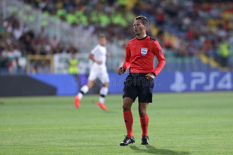 Mark Clattenburg futbolu arbiter obrazy stock