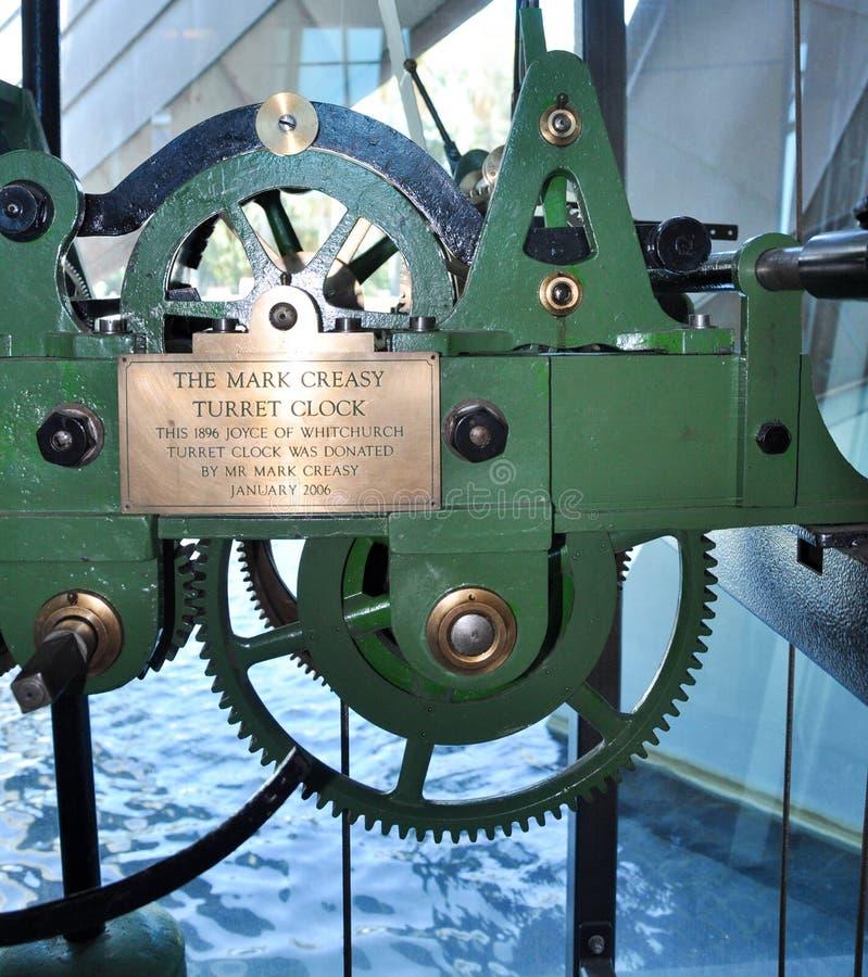 Mark Creasy Turret Clock Gears arkivfoton