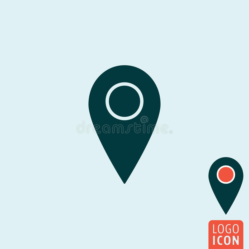 Mark icon isolated. Mark icon. Map pointer symbol. Vector illustration royalty free illustration