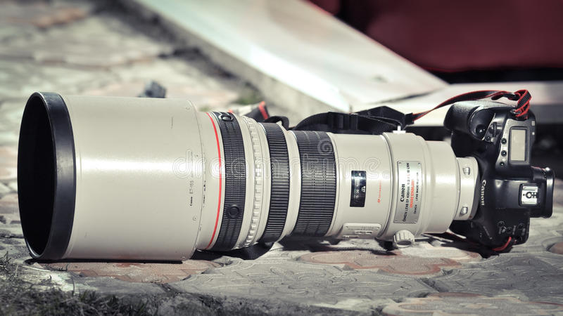 MARK III, professionele camera van Canon 1D stock fotografie