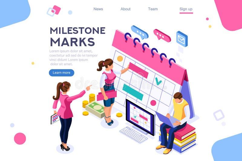 Mark Important Milestone Service Concept libre illustration