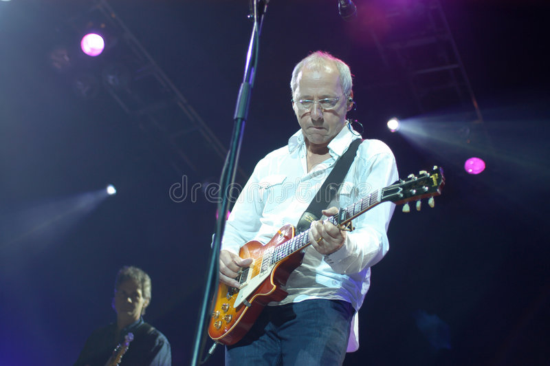 Mark Knopfler. Dire Straits - in his tour in Europe - Lisbon 2005 - Editorial no release required stock photos