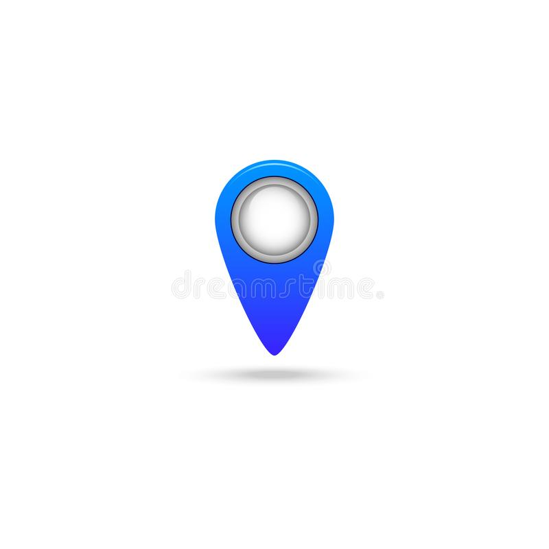 Mark on the map  icon isolated on white background stock illustration