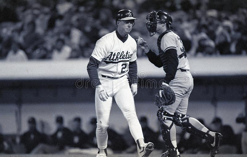 Mark McGwire, première base d'Oakland Athletics photographie stock