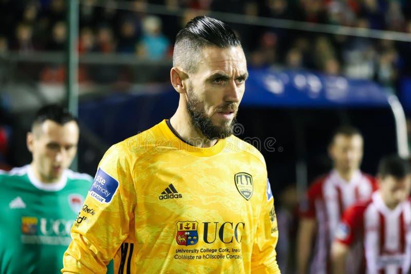 Mark McNulty alla lega della partita prima Cork City FC di divisione dell'Irlanda contro Derry City FC immagini stock libere da diritti