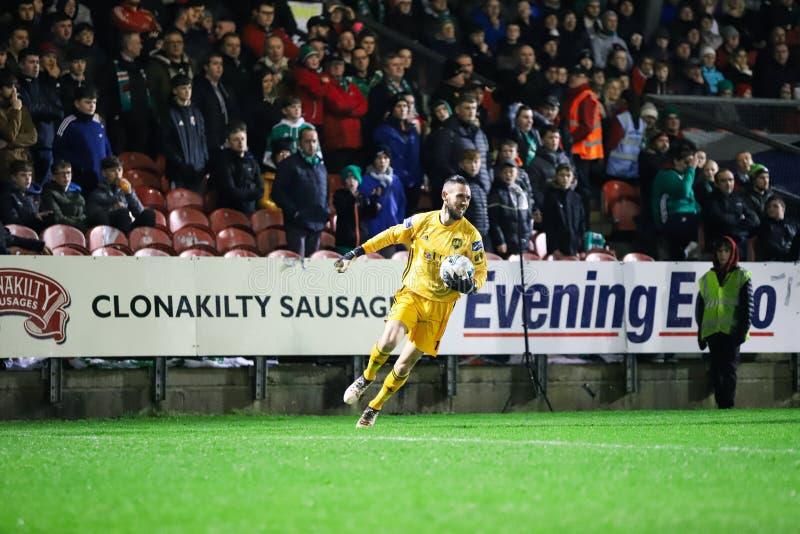 Mark McNulty alla lega della partita prima Cork City FC di divisione dell'Irlanda contro Derry City FC immagine stock