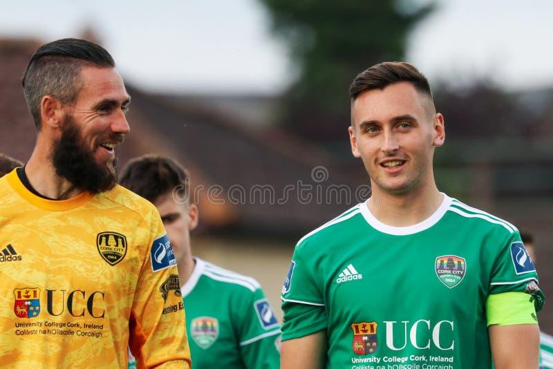 Mark McNulty en la liga del partido de primero ministro Division de Irlanda entre Cork City FC contra St Patricks FC atlético imagen de archivo