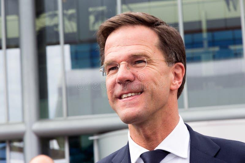 Mark Rutte AutoRAI royalty-vrije stock foto