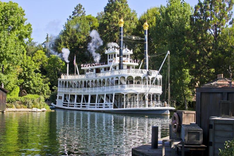 Mark Twain, Flüsse von Amerika, Disneyland stockfotos