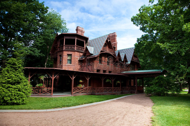 Mark Twain House. The home of Mark Twain which is located in Hartford, Connecticut stock image