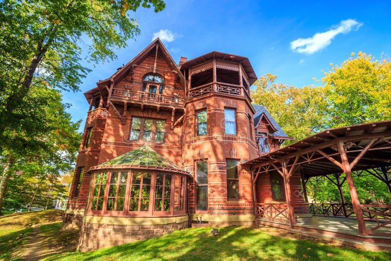 Mark Twain House en het Museum royalty-vrije stock afbeeldingen