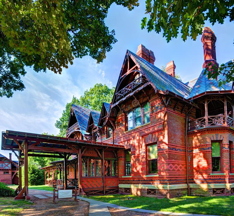 Mark Twain House. In Hartford, Connecticut royalty free stock image