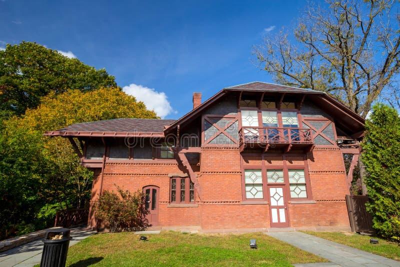 Mark Twain House und das Museum lizenzfreies stockfoto