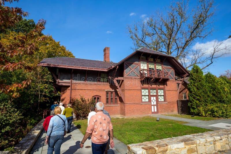 Mark Twain House und das Museum stockfoto