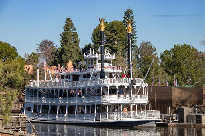 Mark Twain Riverboat. The Mark Twain Riverboat attraction within Disneyland in Anaheim, California royalty free stock photography