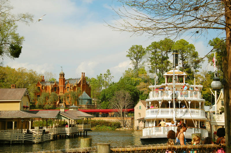 Mark Twain Riverboat. Cruise back in time on an authentic steam-powered paddlewheel riverboat. Mark Twain Riverboat is a 14-minute sightseeing voyage aboard a stock photos