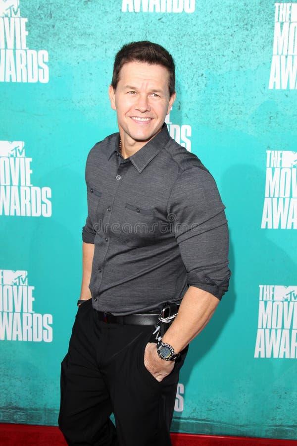 Mark Wahlberg obtenant aux récompenses 2012 de film de MTV photos stock