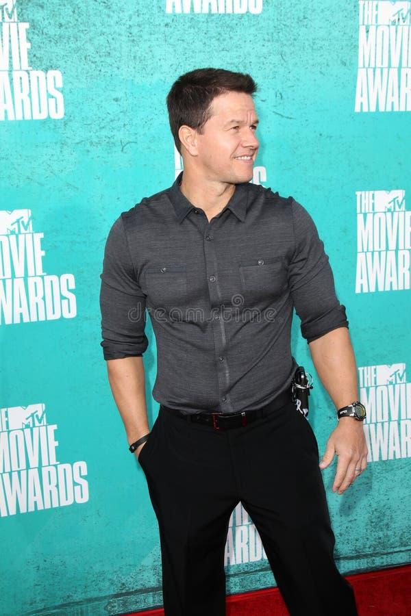 Mark Wahlberg obtenant aux récompenses 2012 de film de MTV photo libre de droits