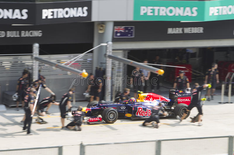 Download Mark Webber Enters Pitlane For Trial Pit Stop Editorial Photography - Image: 24002762
