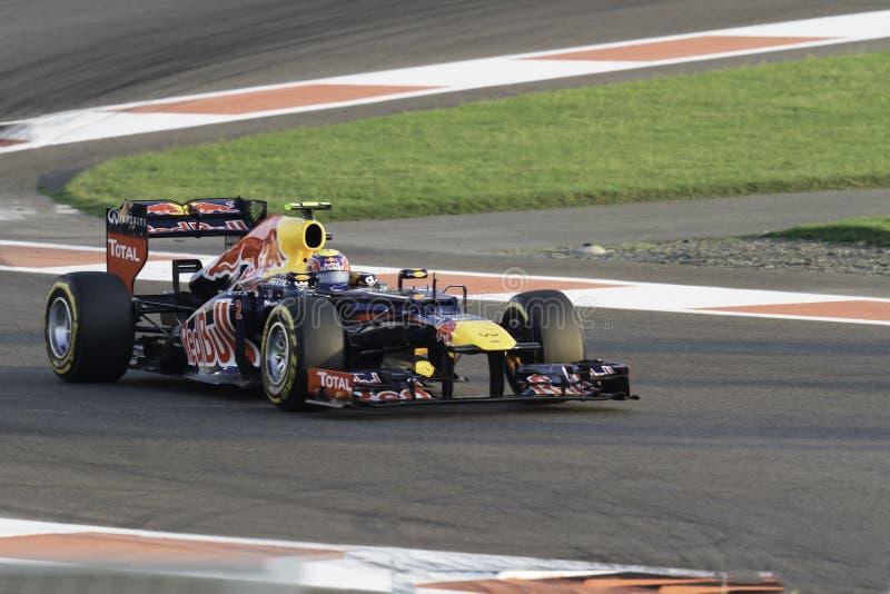 Mark Webber - Redbull lizenzfreie stockfotos