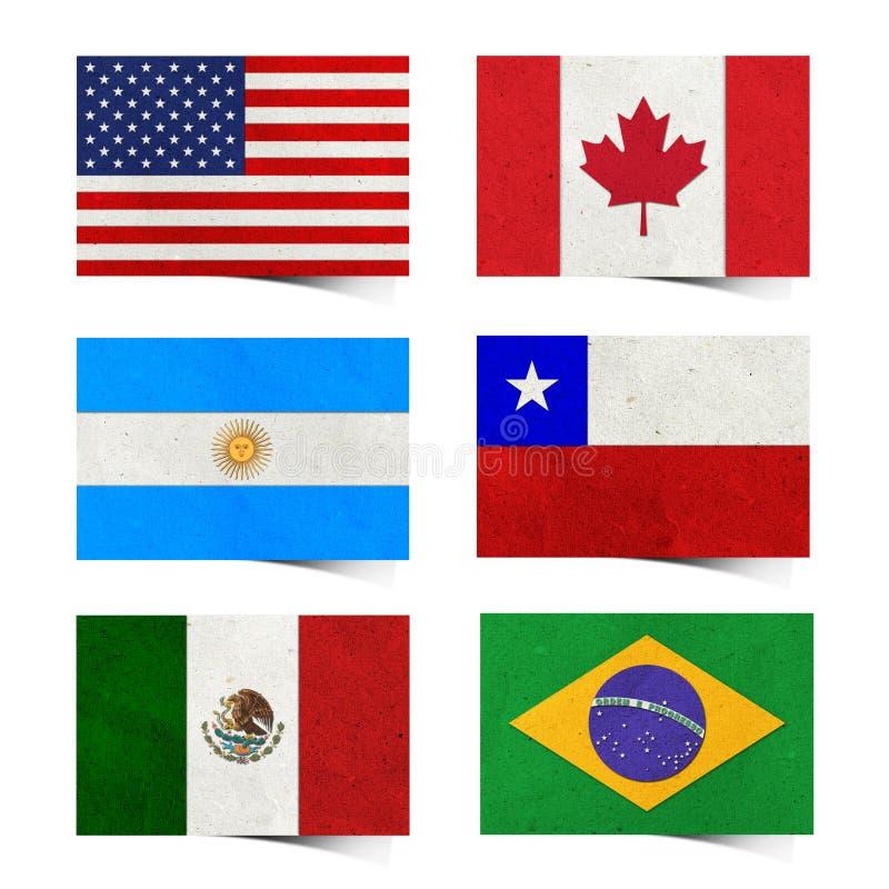 Marke der Nation-Markierungsfahne (Amerika) bereitete Papier auf vektor abbildung