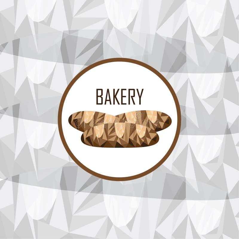 Marke für Bäckerei, vermarktendes Material lizenzfreie abbildung