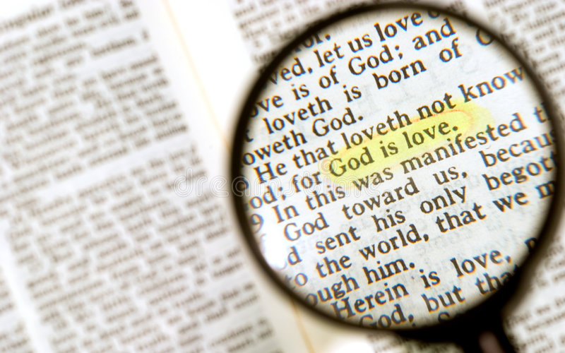 Marked Phrase In  Holy Bible Stock Photos