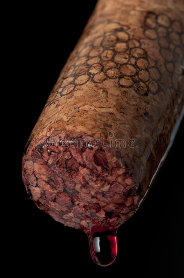 Markedwith recientemente tirado del corcho al manojo de uvas. fotos de archivo