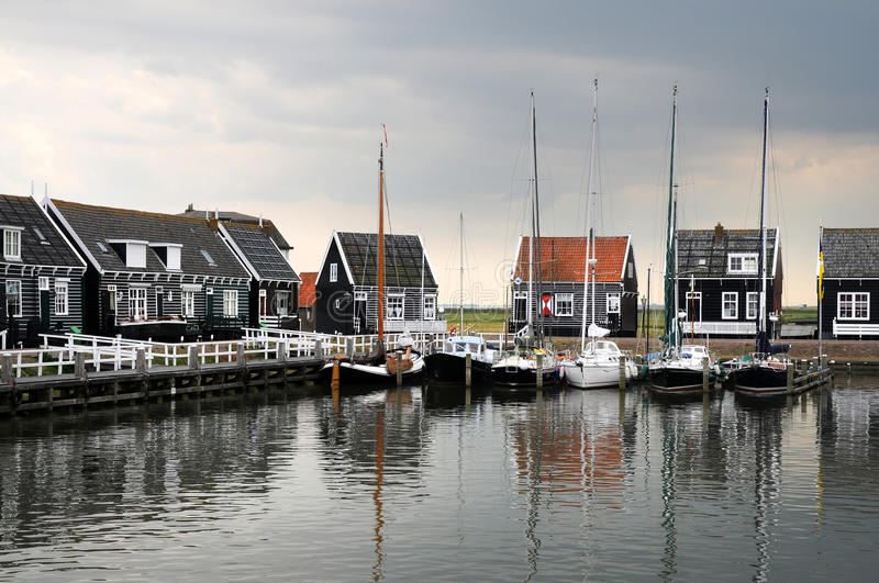 Download Marken stock photo. Image of boats, calm, european, architecture - 19866752