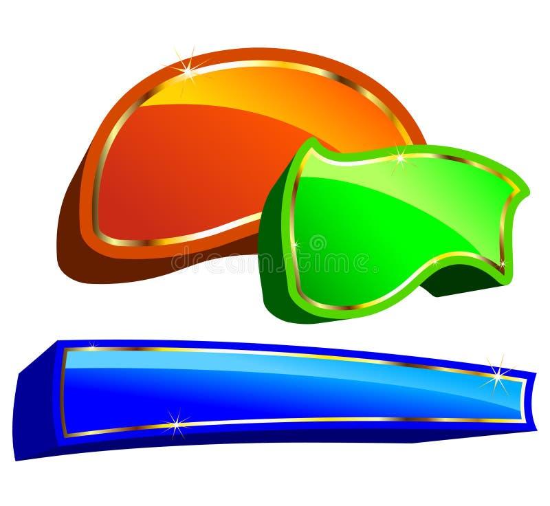 Marken gefärbt stock abbildung