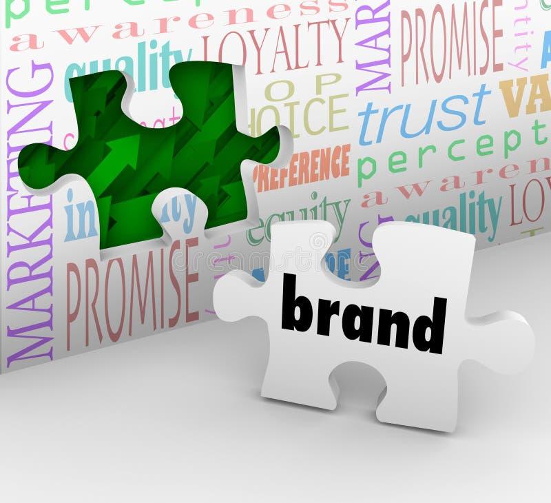 Marken-Puzzlespiel-Stück-Marketingstrategie lizenzfreie abbildung
