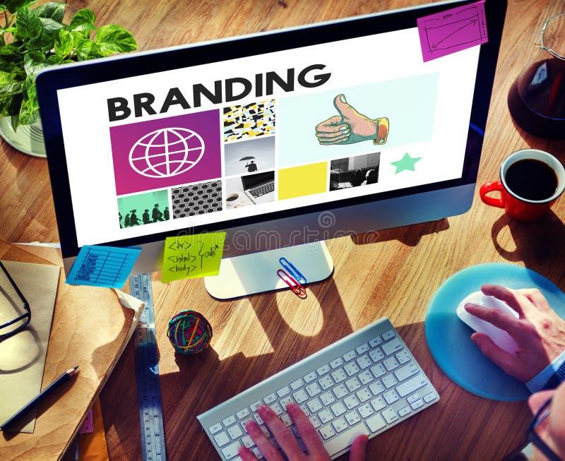 Markenartikelwerbungs-Copyright-Marketing-Konzept stockbilder