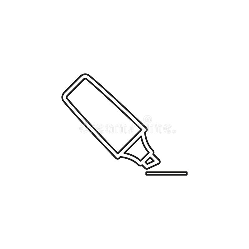 Marker base icon. sign illustration. Marker base icon. Simple sign illustration. Marker symbol design from Workspace series. Can be used for web, print and stock illustration
