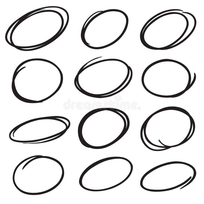Marker circles. Hand drawn vector marker circles vector illustration