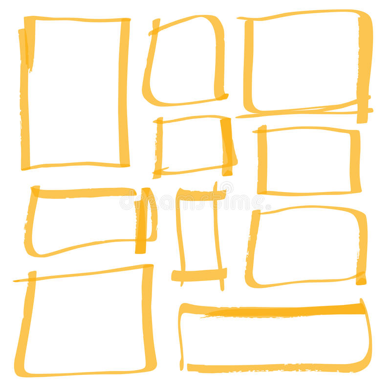 Marker drawing series stock illustration