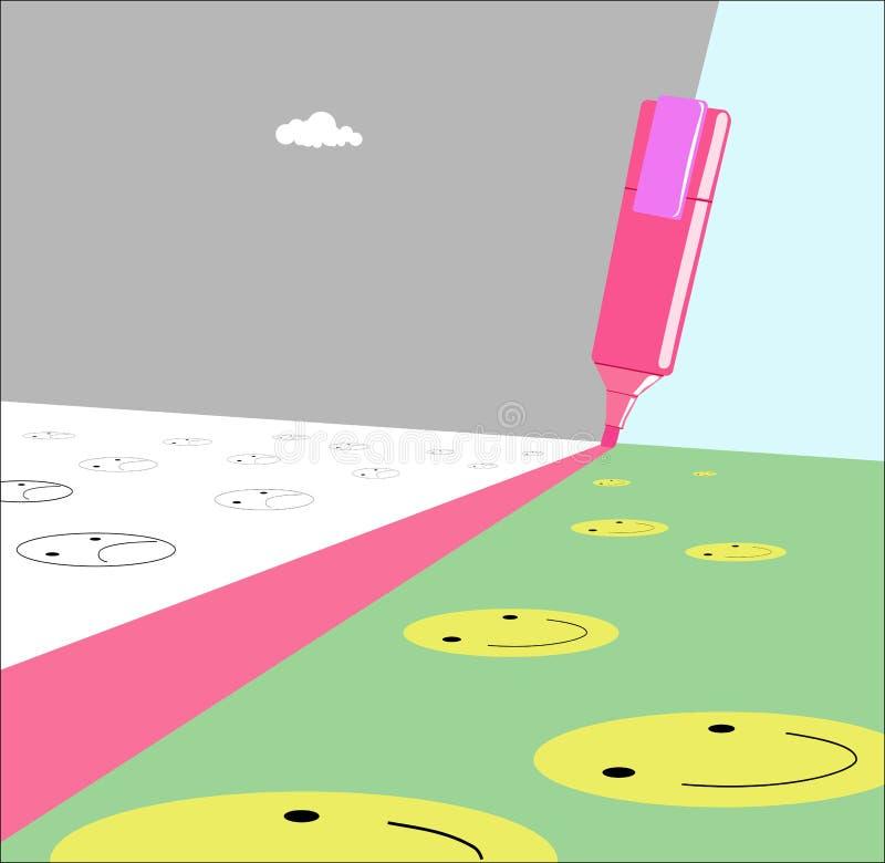 Marker. A marker draws a dividing line.Vector illustration vector illustration