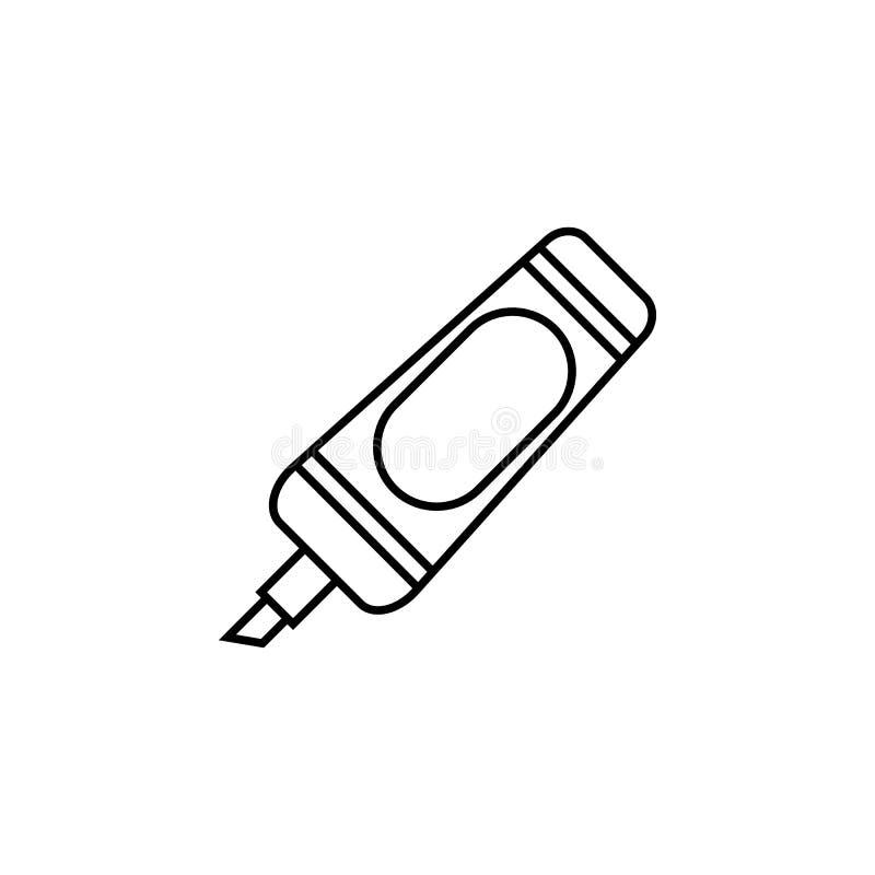 Marker icon. On white background vector illustration