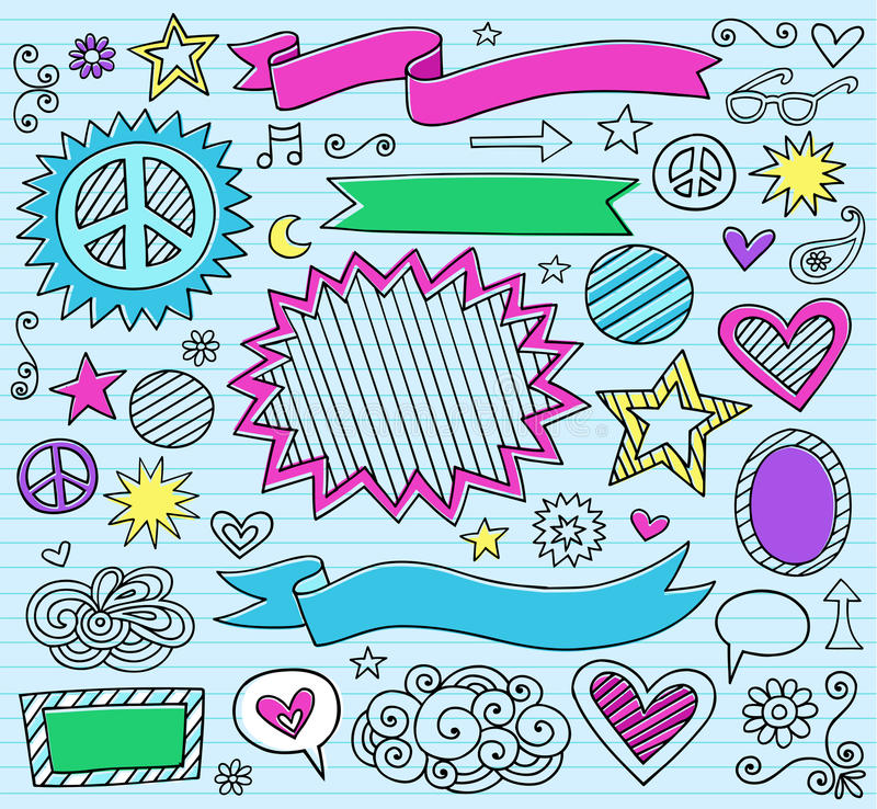 Download Marker Notebook Doodles Vector Illustration Stock Vector - Illustration of drawing, drawn: 22888567