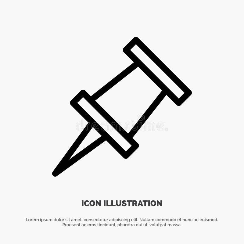 Marker, Pin Line Icon Vector stock illustration