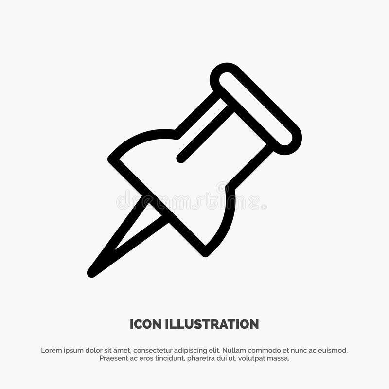 Marker, Pin Line Icon Vector royalty free illustration