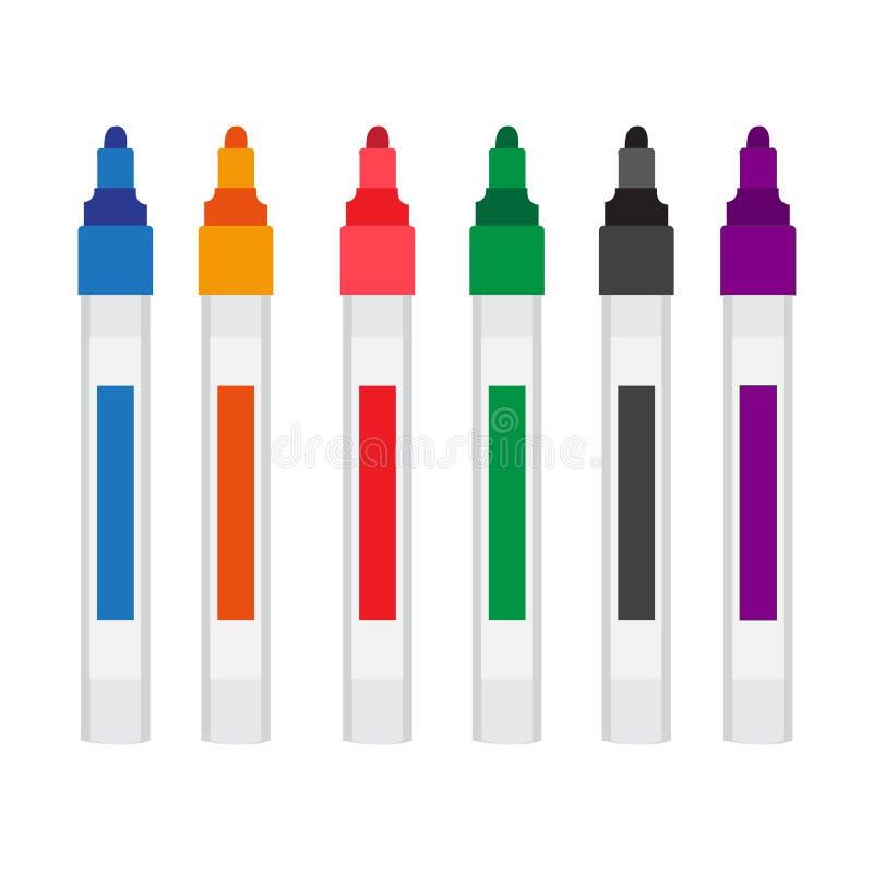 Markera design för pennvektorsamling royaltyfri illustrationer