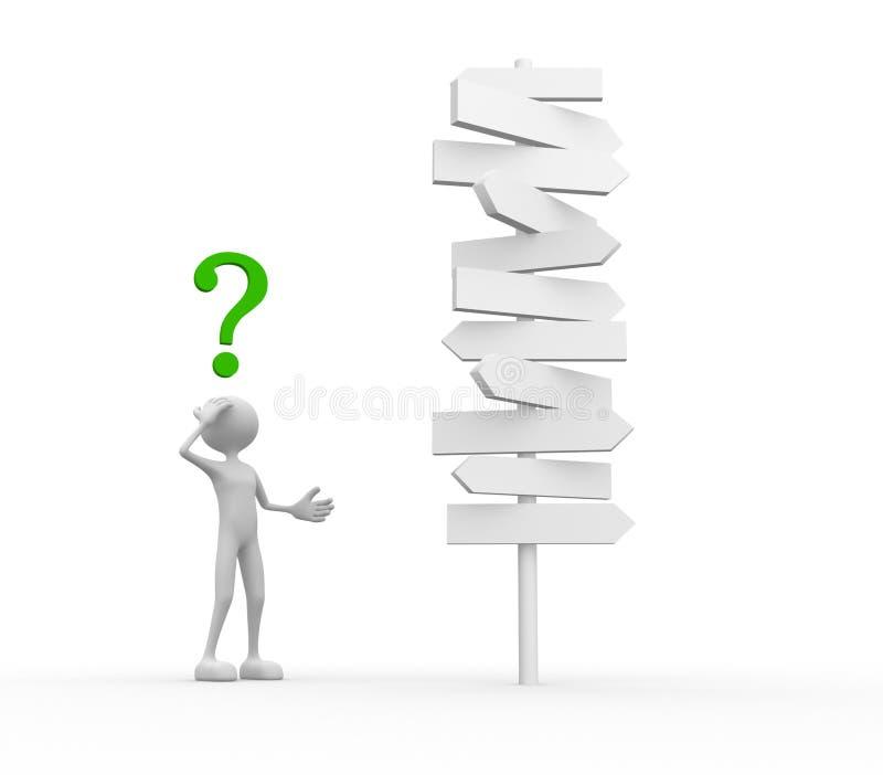 markera frågan confused stock illustrationer