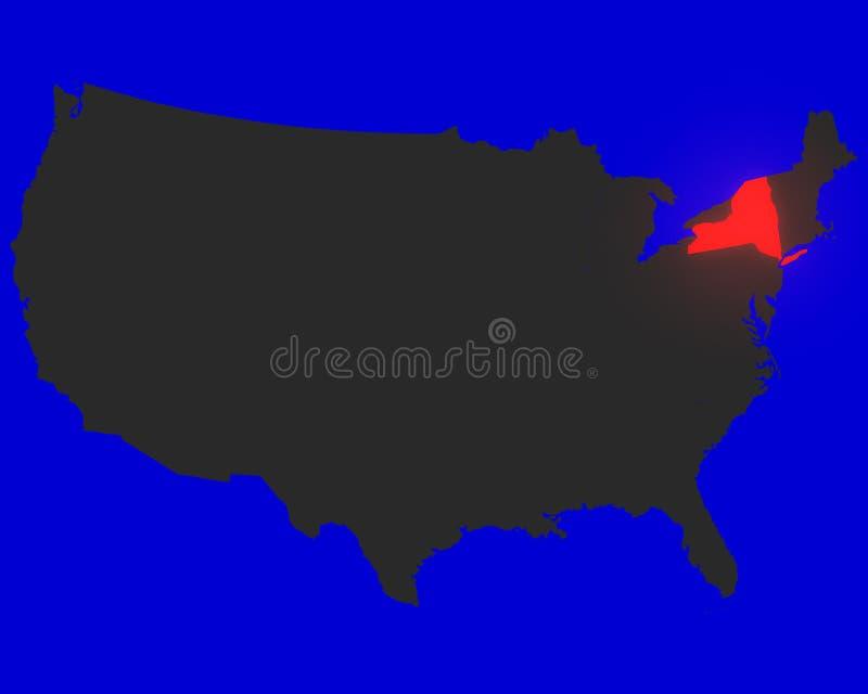 markerat nytt rött tillstånd york vektor illustrationer