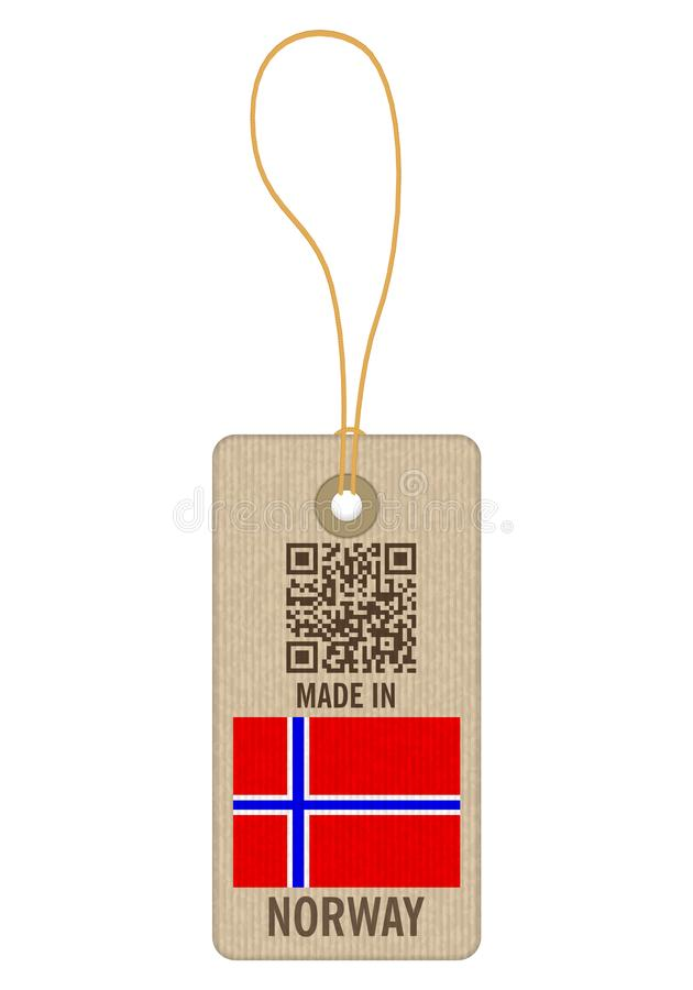 Markering in Noorwegen wordt gemaakt dat royalty-vrije illustratie