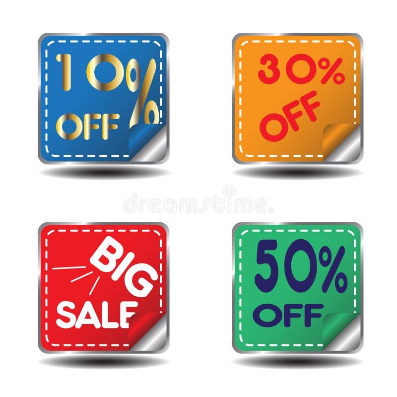 Markering voor verkoop stock illustratie