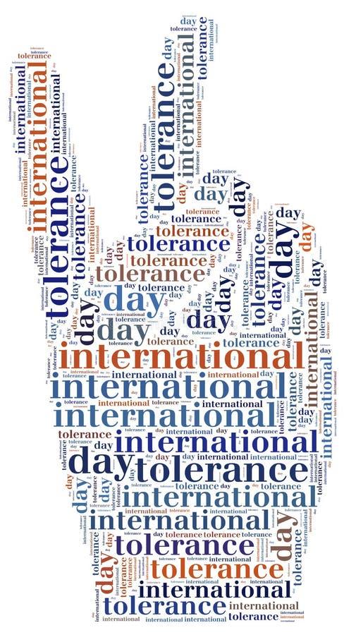 Markering of wor wolken internationale verwante tolerantiedag royalty-vrije illustratie