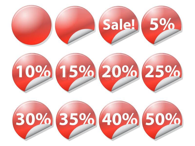 Markeringen bij kleinhandels verkopen vector illustratie