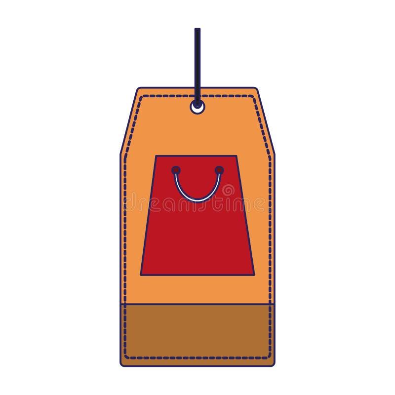 Markeringen in de zakken blauwe lijnen stock illustratie
