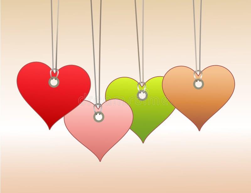 Markeringen in hartvorm stock illustratie